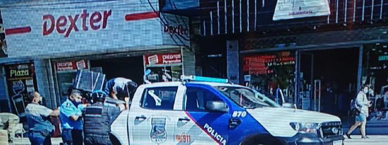 Anciana fue embestida por una moto delivery en pleno centro capitalino